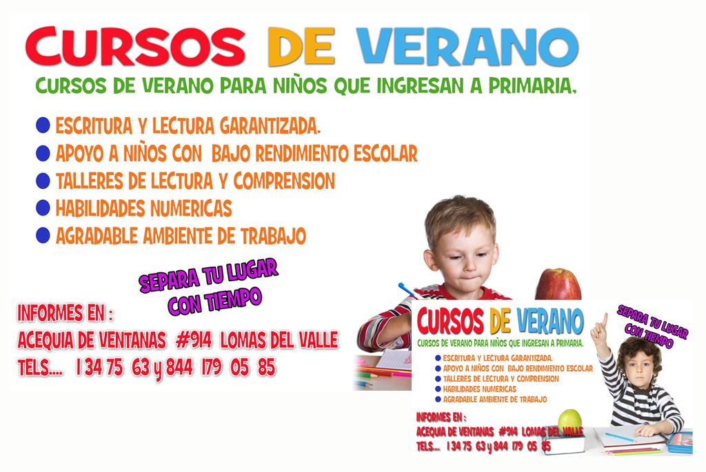 Diseño Flyer Cursos de Verano.