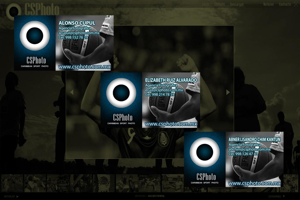 Diseño de Tarjetas de Presentación CSPhoto.