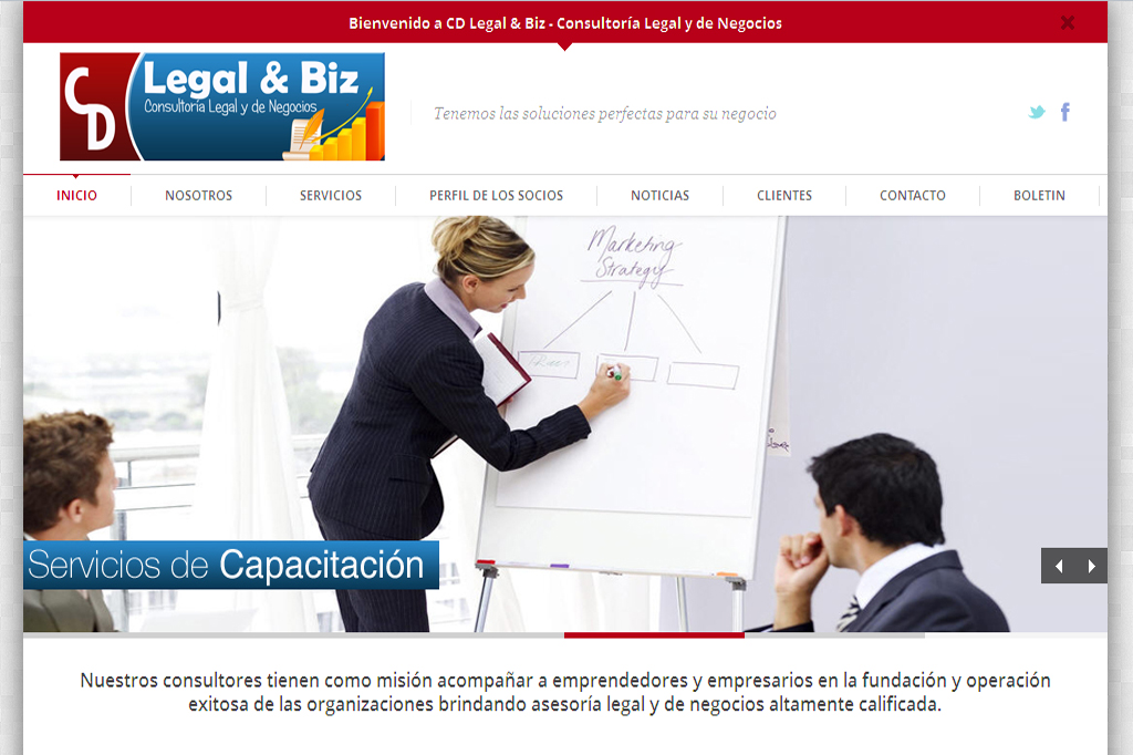 Página Web CD Legal & Biz.