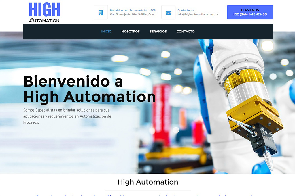 Página web High Automation