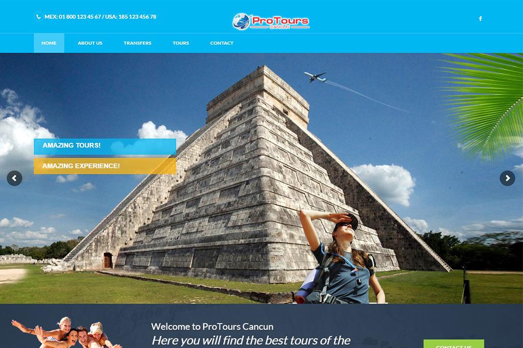 Página web ProTours Cancun