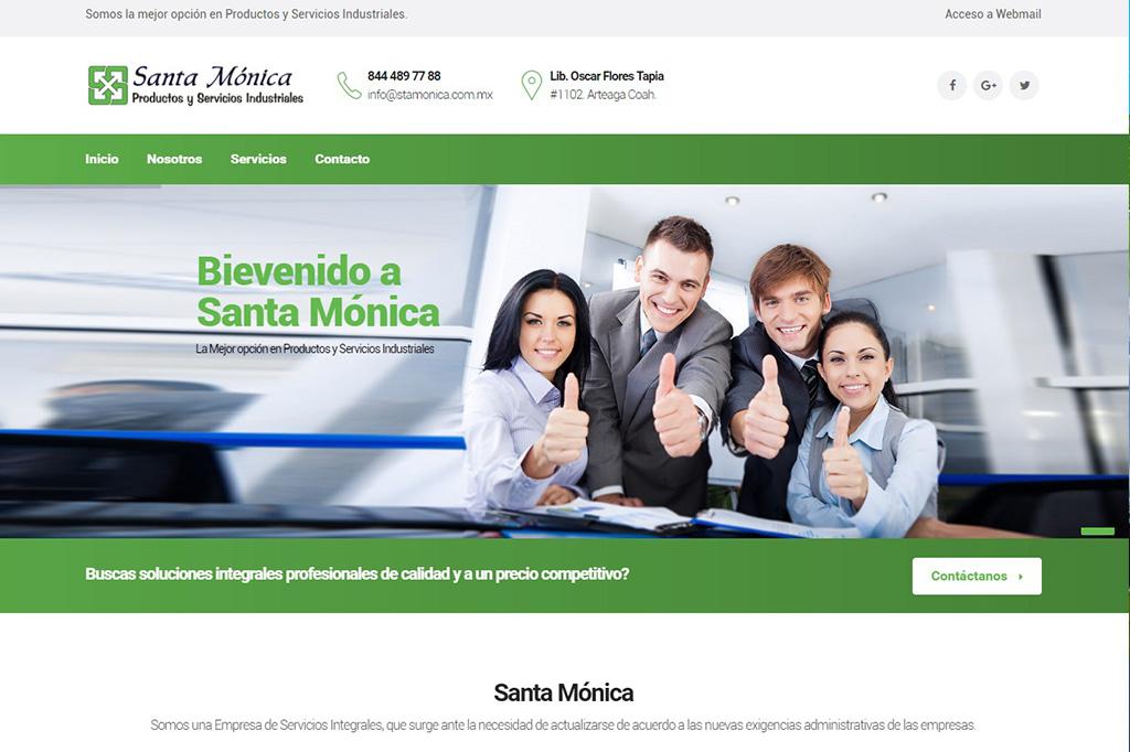Página web Santa Mónica