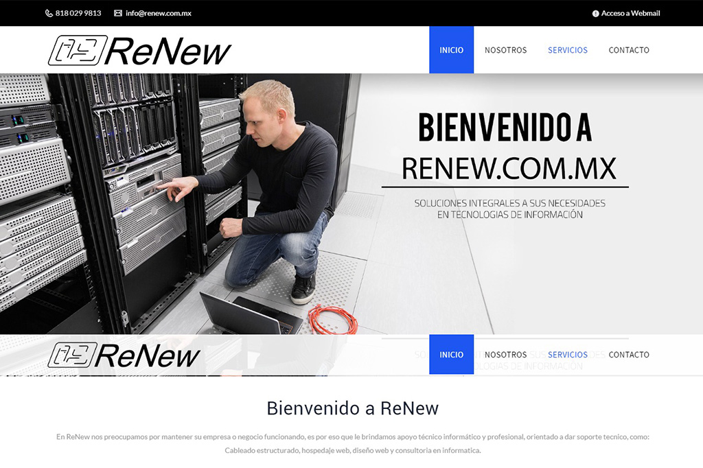 Página web ReNew