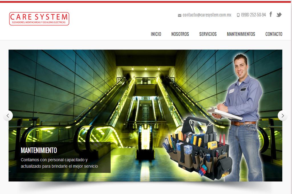 Página web Caresystem