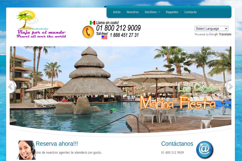 Página web Viaja por el Mundo