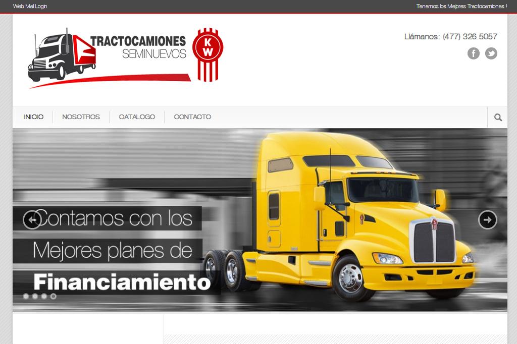 Página web Tractocamiones Seminuevos