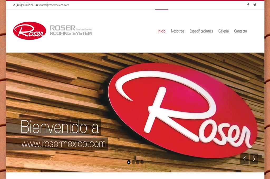 Página web Roser México