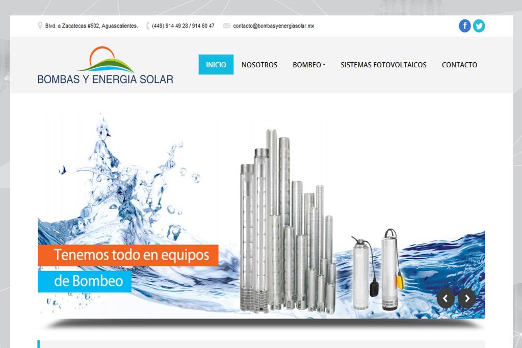 Página web Bombas y Energía Solar