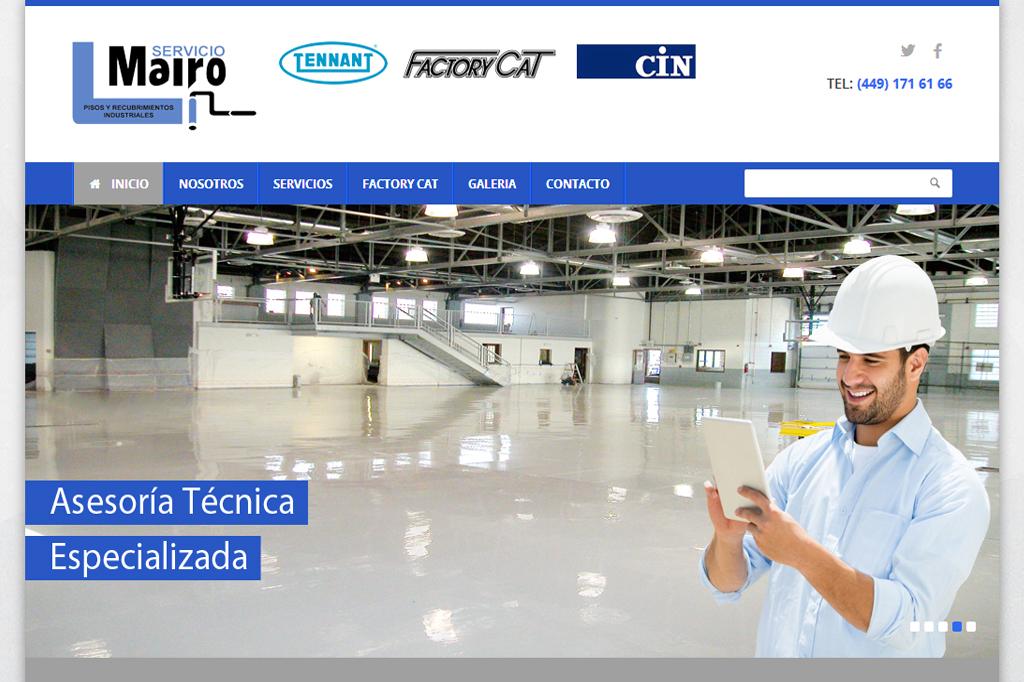 Página web Servicio Mairo