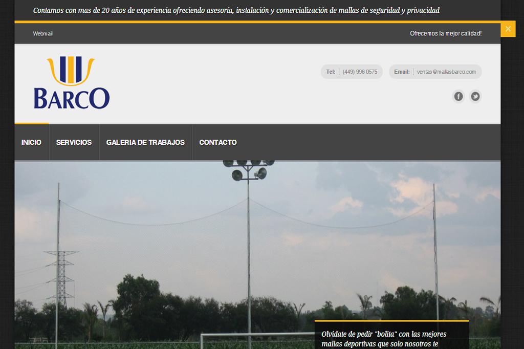 Página web Mallas Barco
