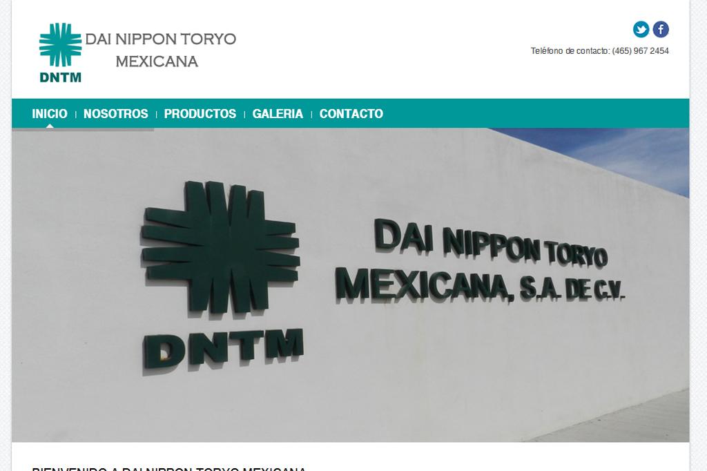 Página web Dai Nippon Toryo