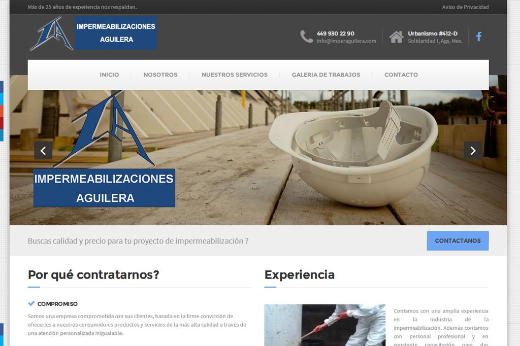 Página web Impermeabilizaciones Aguilera