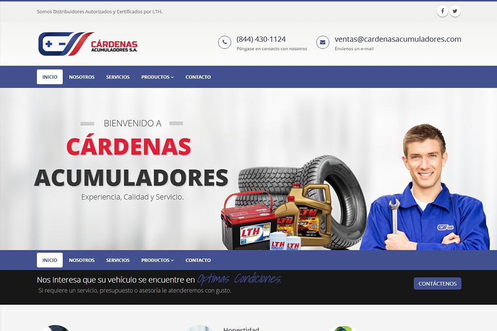 Página web Cárdenas Acumuladores