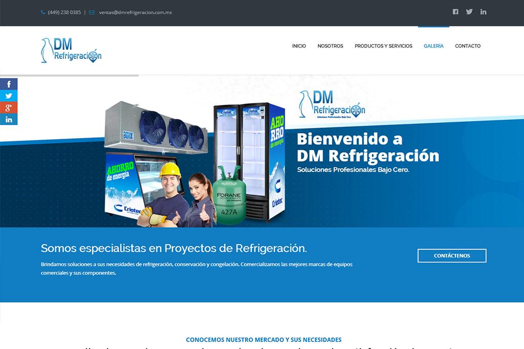 Página web DM Refrigeración