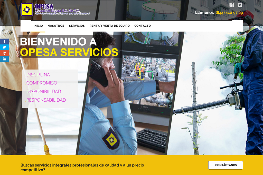 Página web Opesa