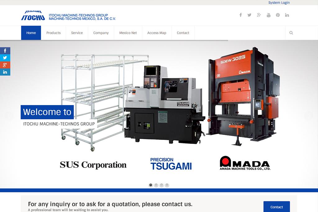 Página web Itochu