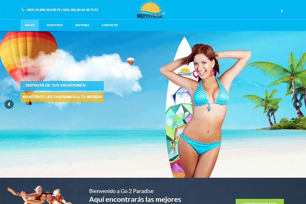 Página web Go 2 Paradise