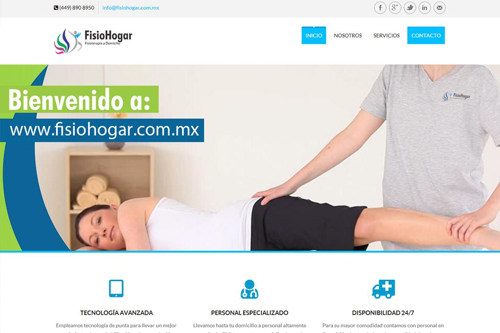 Página web FisioHogar