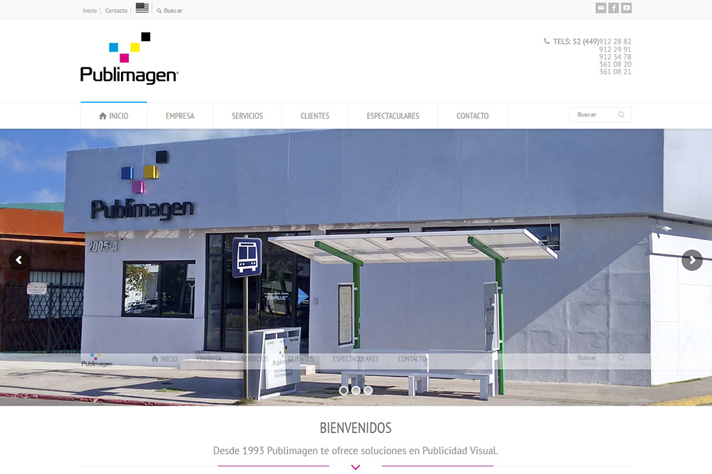 Página web Publimagen