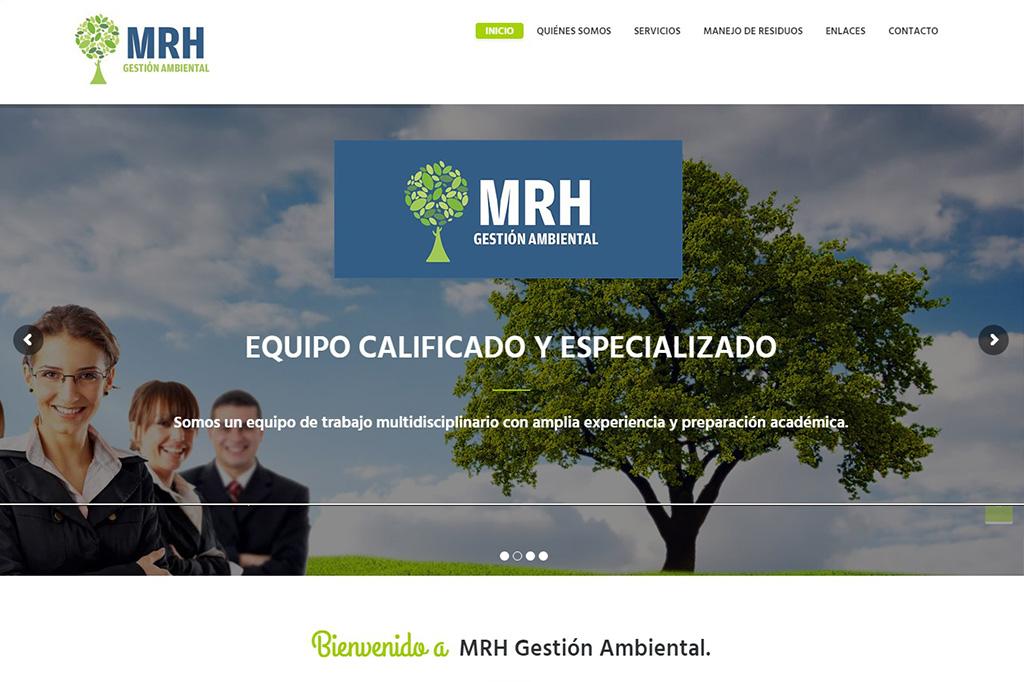Página web MRH Ambiental