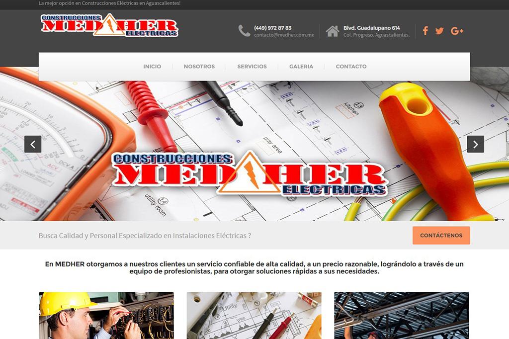Página web Medher