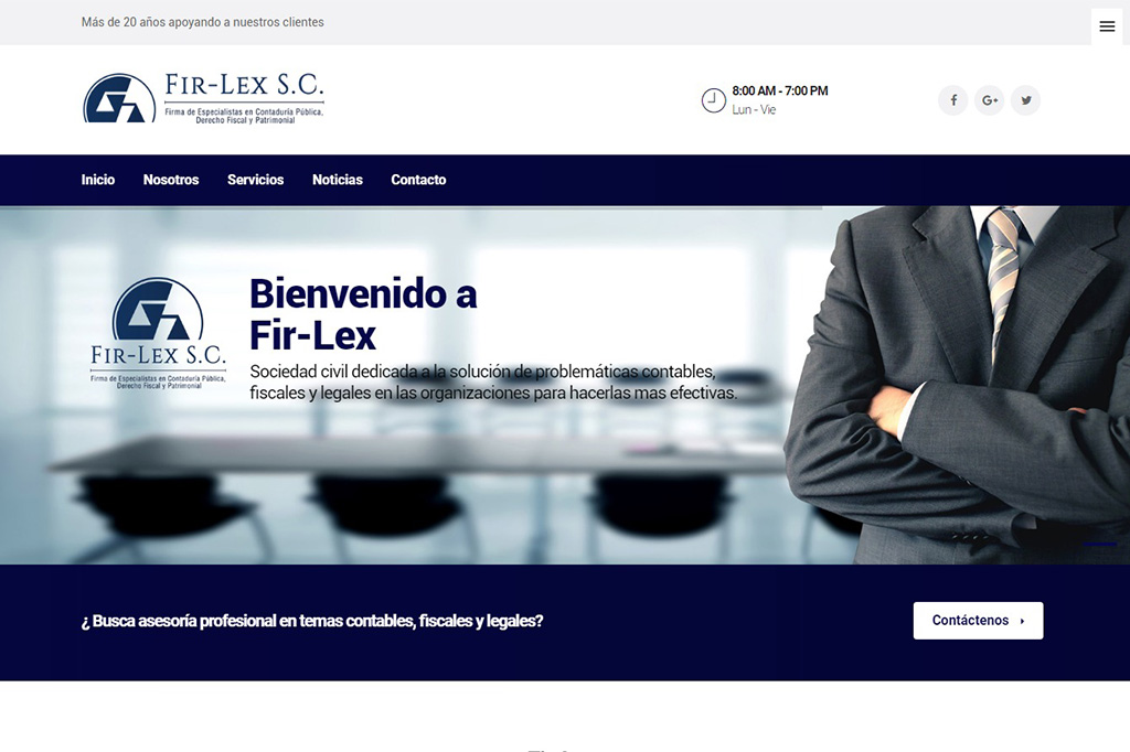 Página web Fir-Lex