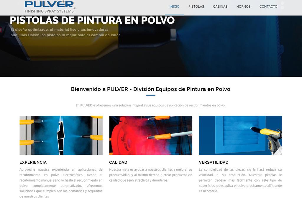 Página web Equipo de Pintura en Polvo
