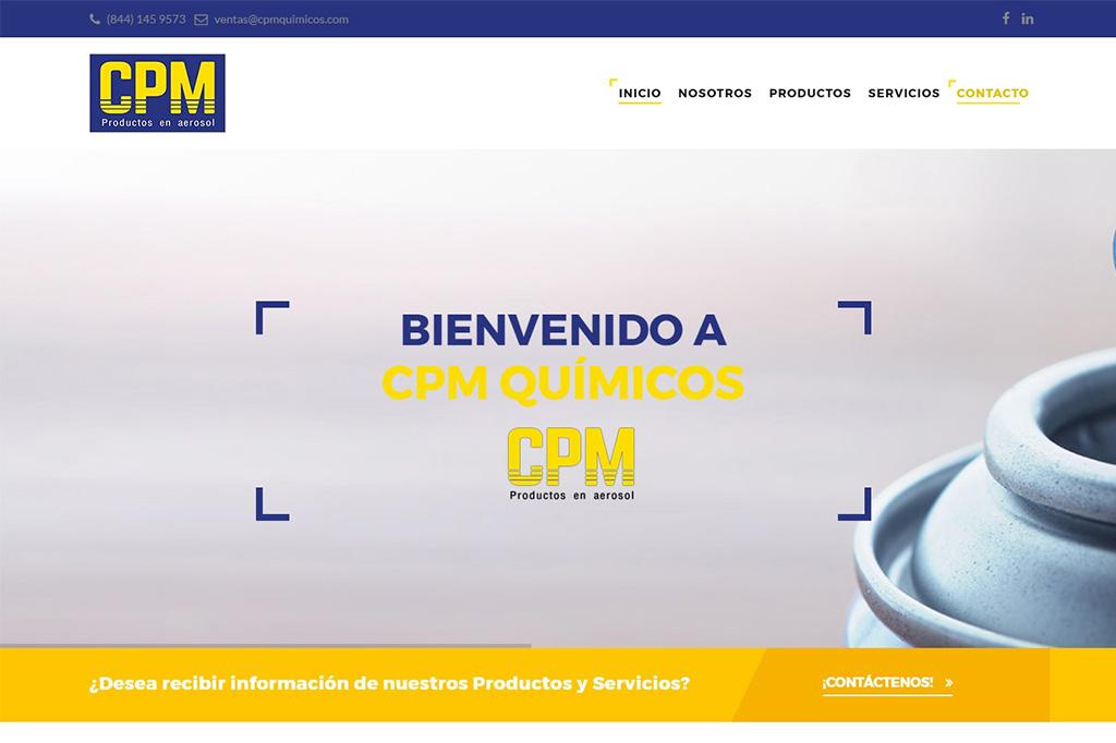 Página web CPM Químicos