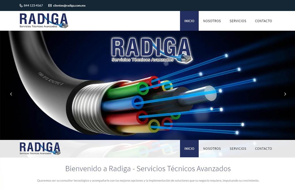 Página web Radiga