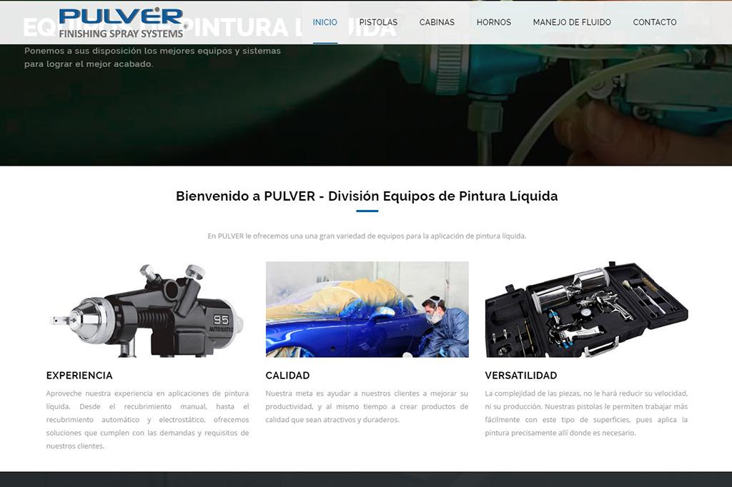 Página web Pistolas de Pintura