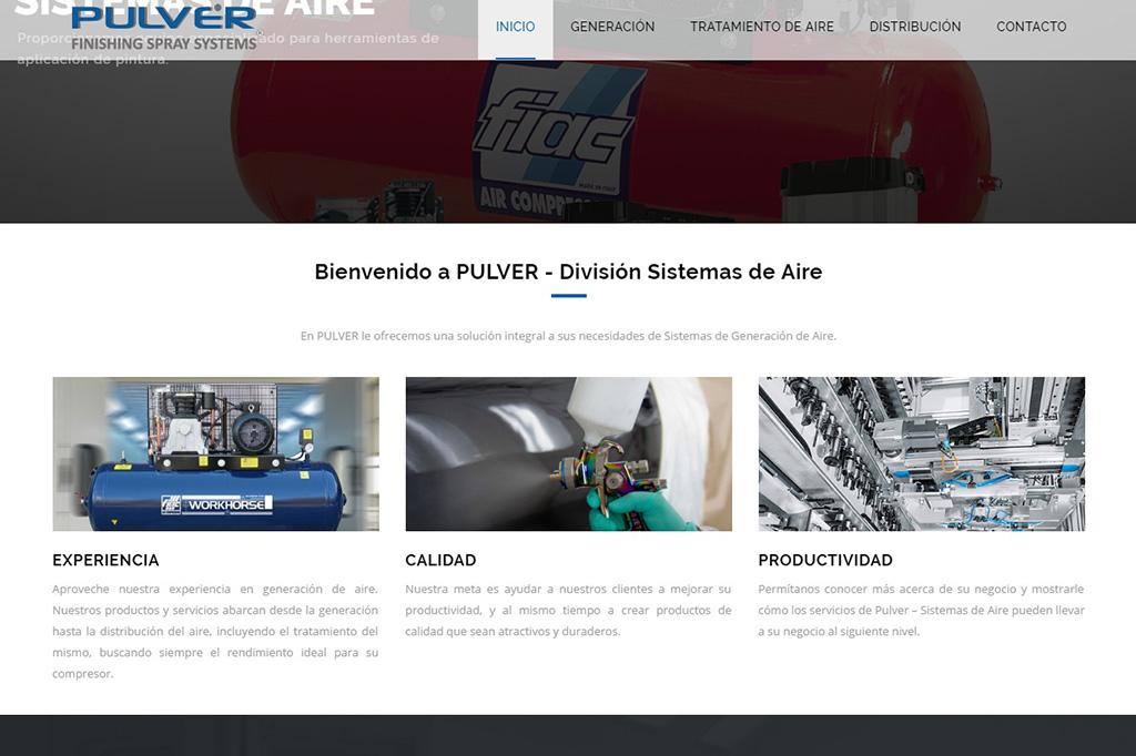Página web Sistemas de Aire
