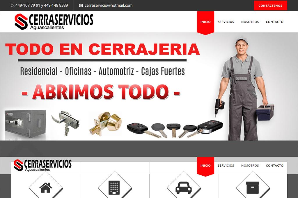 Página web Cerraservicios