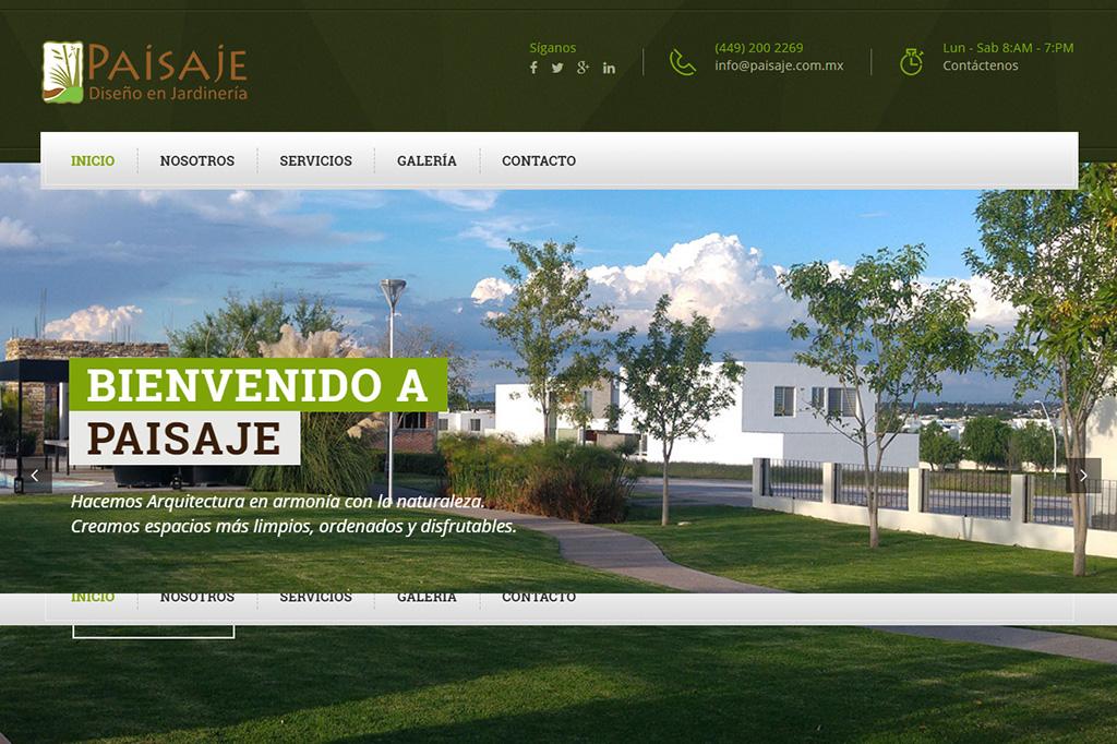 Página web Paisaje