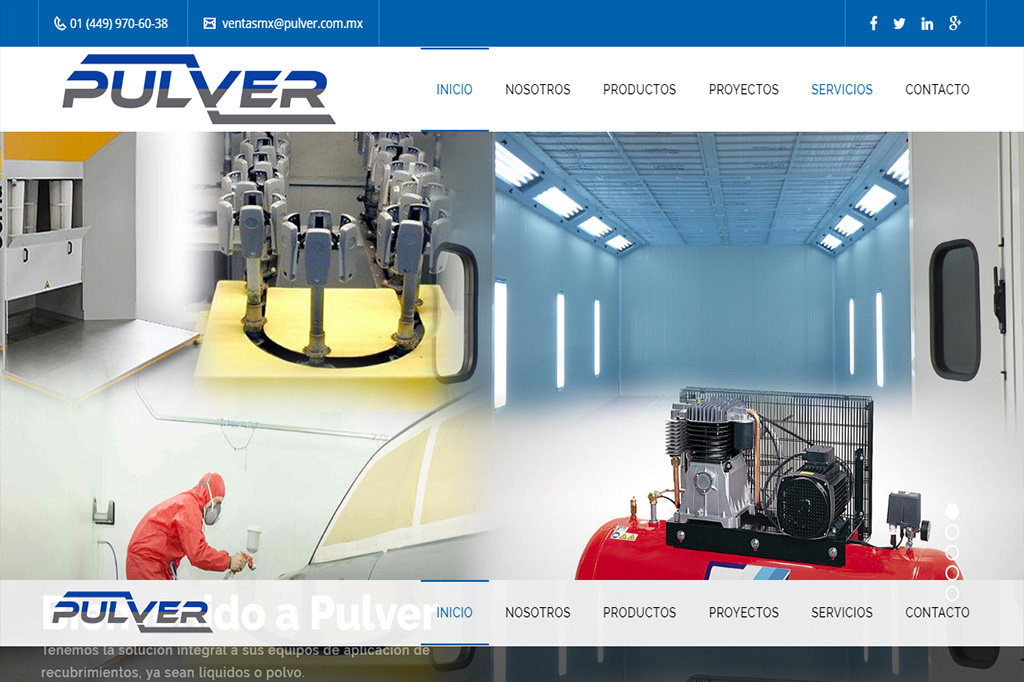 Página web Pulver