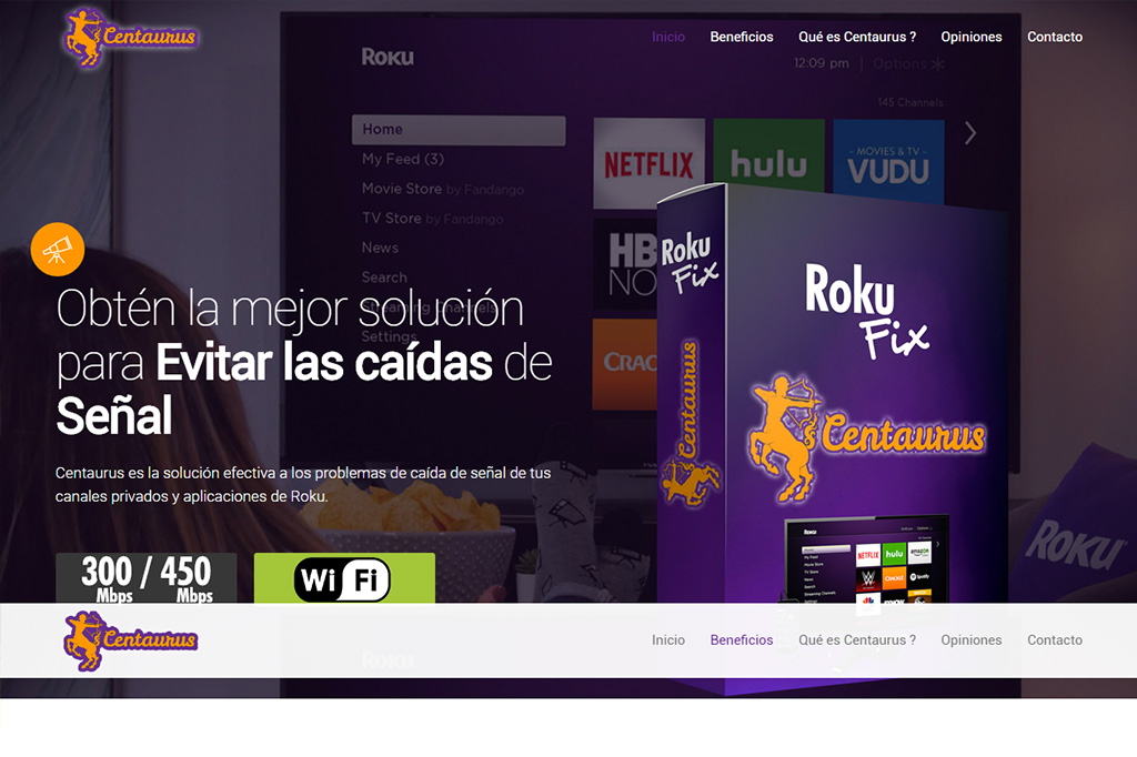 Página web Centaurus