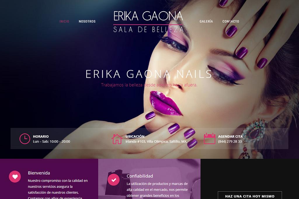 Página web Erika Gaona