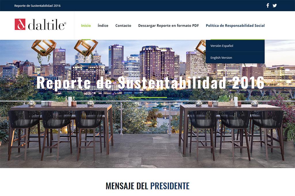 Página web Reporte DTM 2016