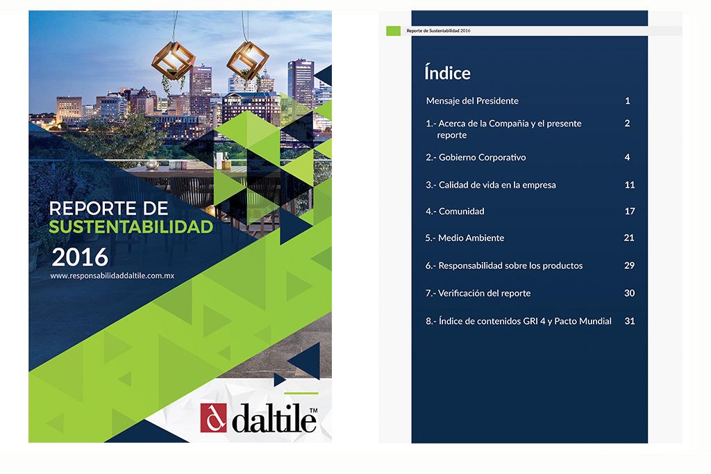 Diseño Reporte de Sustentabilidad DTM 2016