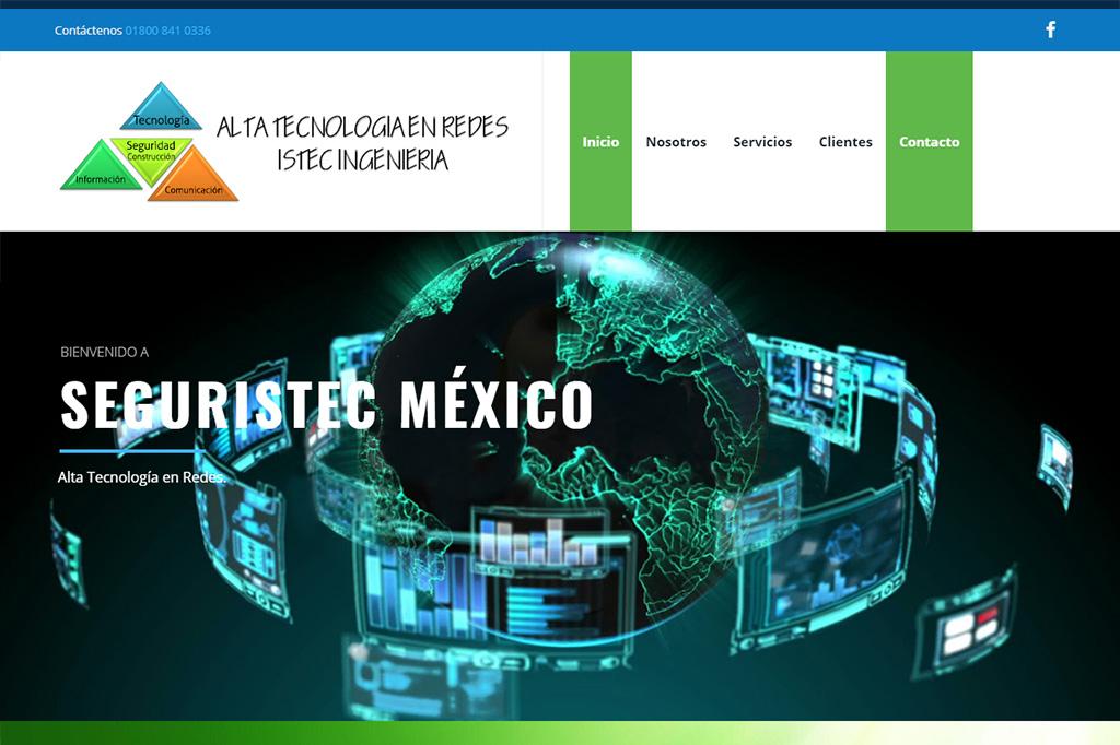 Página web Seguristec México