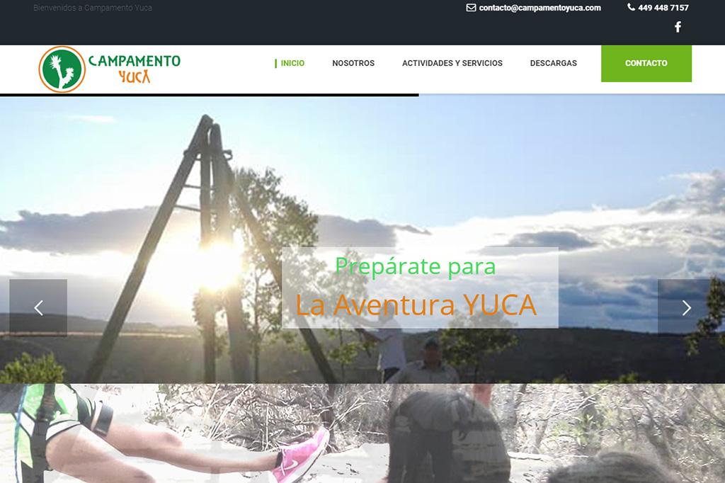 Página web Campamento Yuca