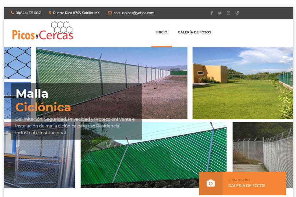Página web Malla Ciclónica Saltillo
