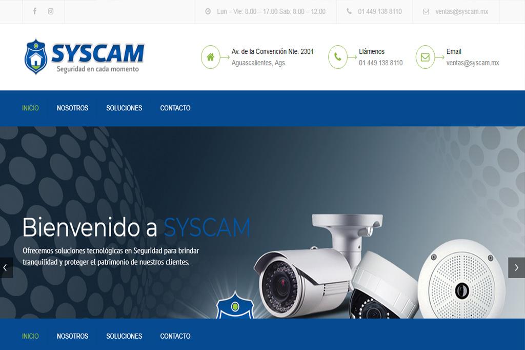 Página web Syscam