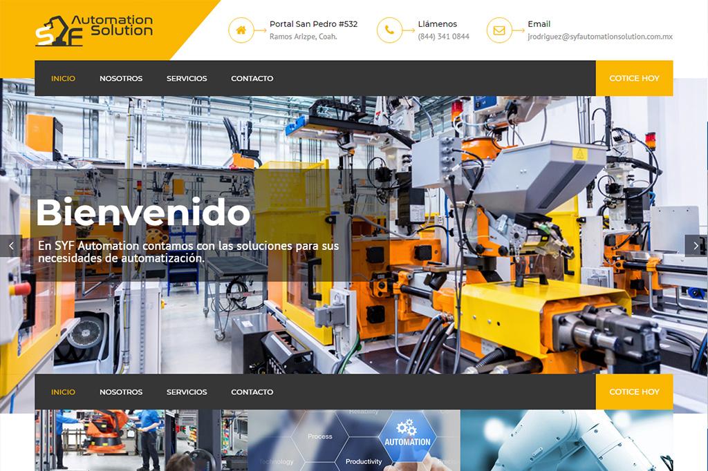 Página web SyF Automation
