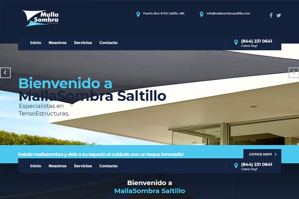 Página web MallaSombra Saltillo