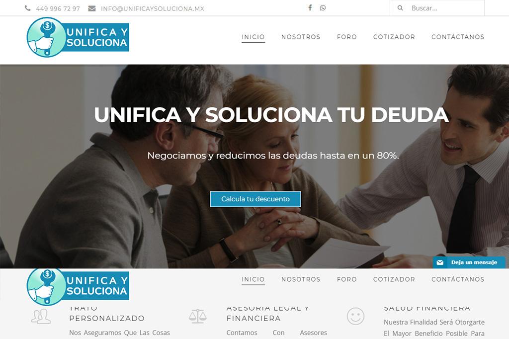 Página Web Unifica y Soluciona