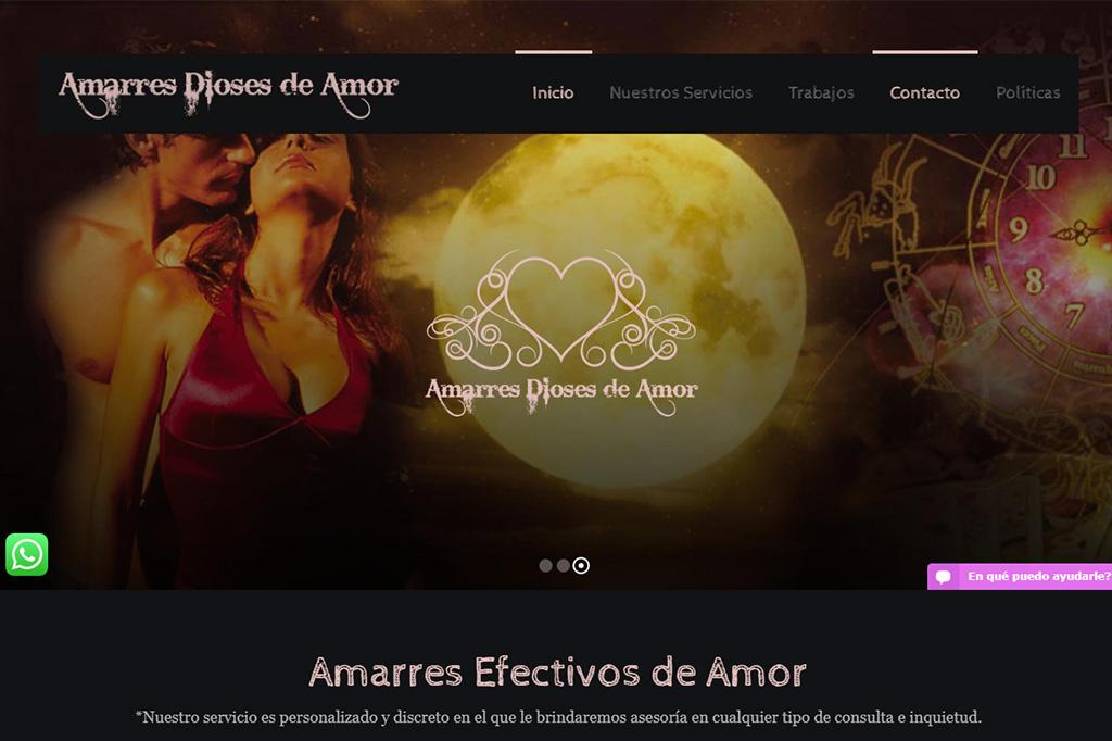Página Web Amarres Dioses de Amor