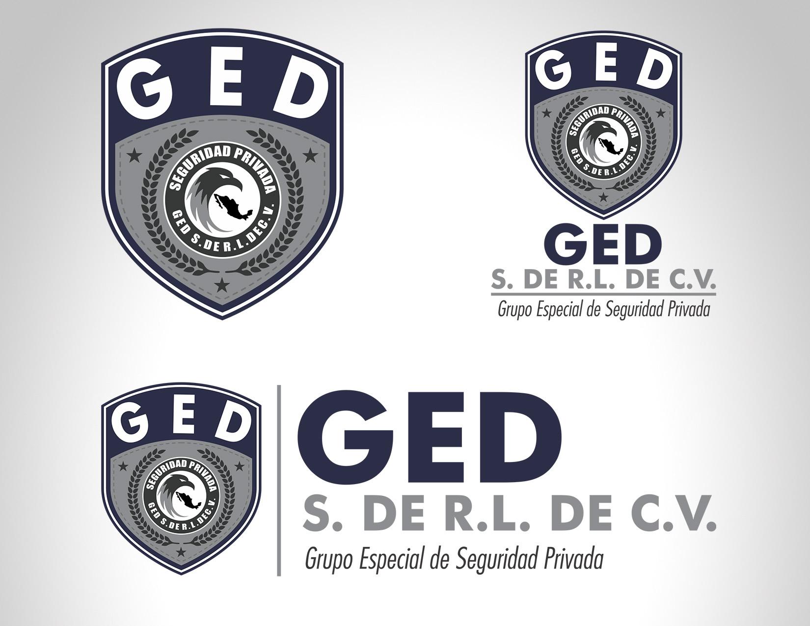 Diseño Logo Seguridad Privada GED