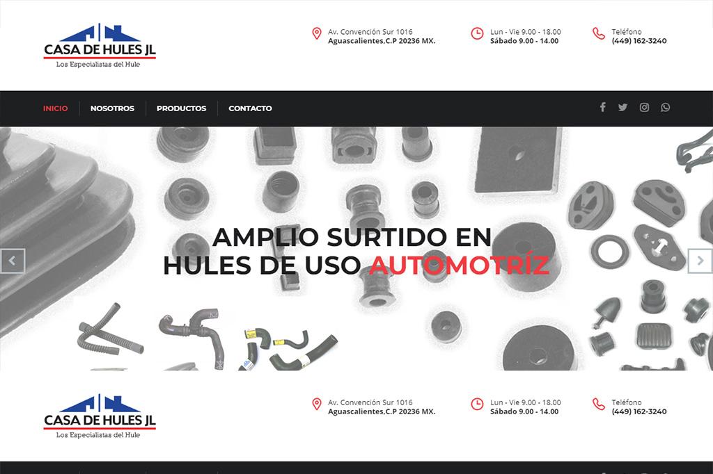 Página web Casa de Hules JL