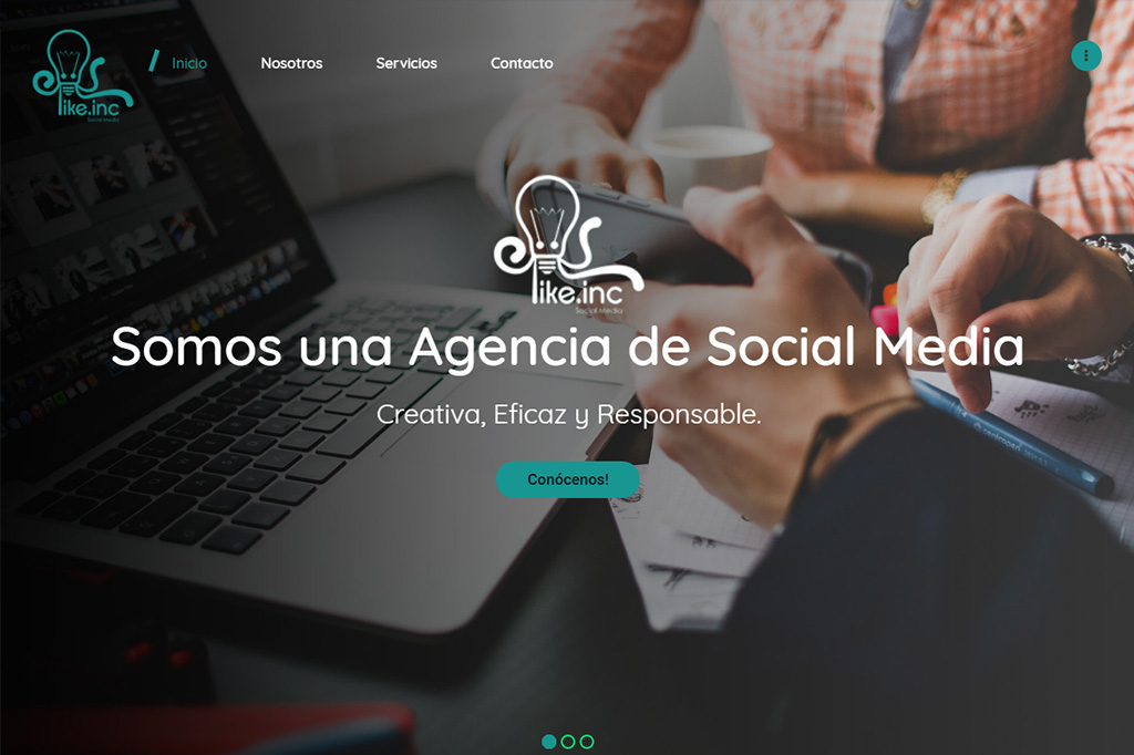 Página web LikeInc
