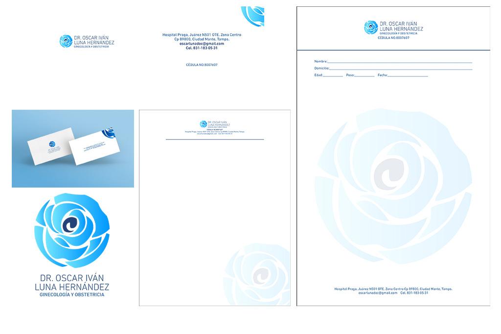 Diseño de Identidad Corporativa Dr. Oscar Iván Luna